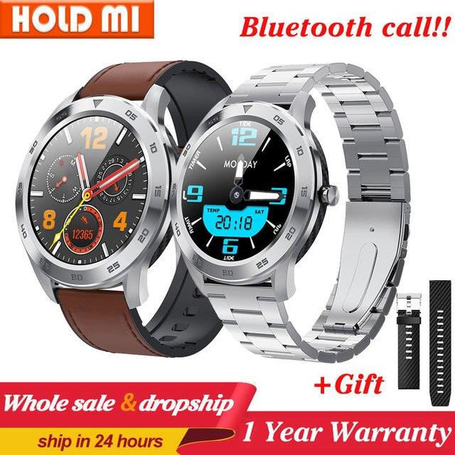 DT98 חכם שעון עמיד למים נשים גברים Smartwatch KSR909 עגול קצב לב מד צעדים מסר שיחת תזכורת חכם פעילות Tracker