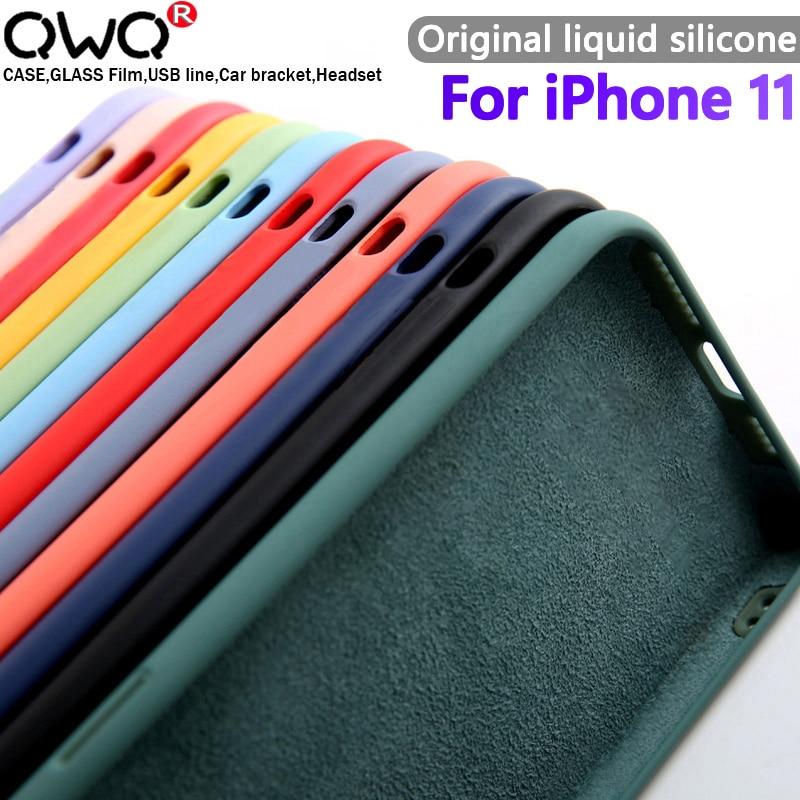 Orijinal yumuşak kadife sıvı silikon kılıf Apple iPhone 12 mini 11 Pro 7 8 6 6s artı XR X XS Max 10 5 5s kılıfları arka kapak TPU