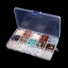 15 çeşit/kutu 5-8mm düzensiz doğal taş boncuk serbest biçimli çakıl dağınık boncuklar Diy malzeme bilezik takı yapımı birthstone DIY