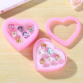 Disney Frozen 2 Elsa Anna Sophia Princess Makeup Toy Belle Snow White Girls Pretend Play Toys For Girls Ring Set Disney Jewelry недорого