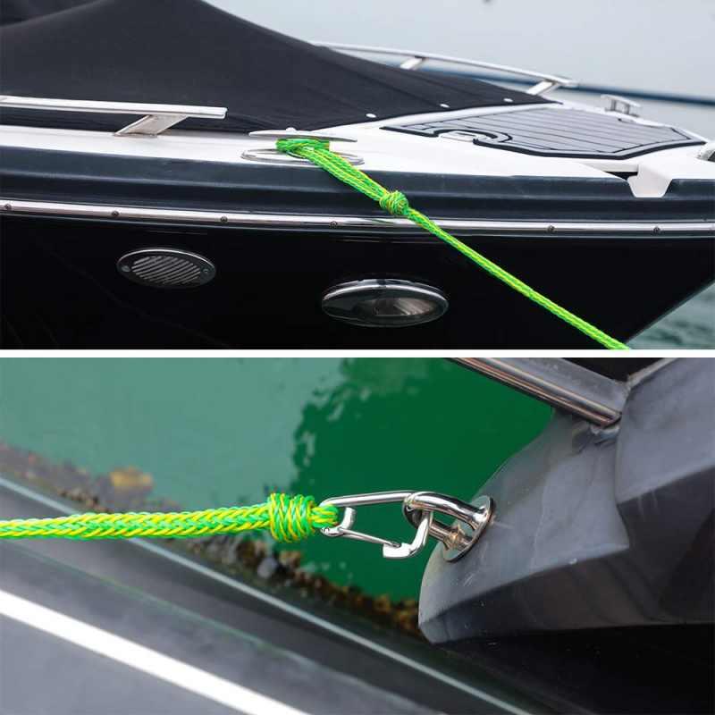 ドックラインヘビーデューティ編組ラインマリンロープバンパーボート係留ラインにスプライシング目マリンドッキングロープアクセサリー