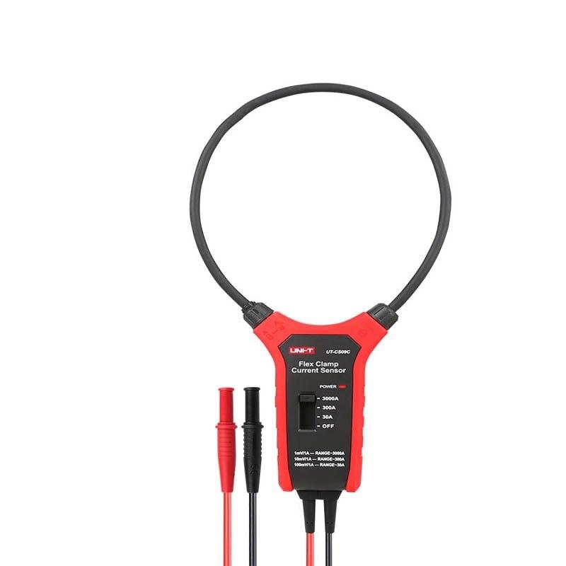 UNI-T UT-CS09A / UT-CS09C Flex Clamp Sensor, 3000A AC Clamp Meter, Oscilloscope / Multimeter Current Probe