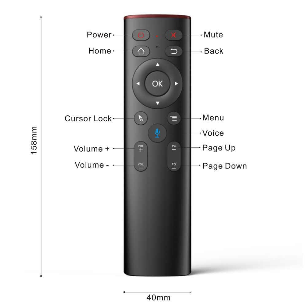 A6 Thoại Điều Khiển Từ Xa 2.4 GHz Không Dây Điều Khiển Từ Xa IR Cho Android TV Box Google Tìm Kiếm Netflix Youtube VS Q5