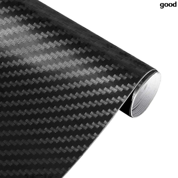 30X127cm 3D Carbon Fiber Vinyl Car Sticker for opel astra j volvo xc60 bmw e92 ford focus mk3 peugeot 406 vectra image