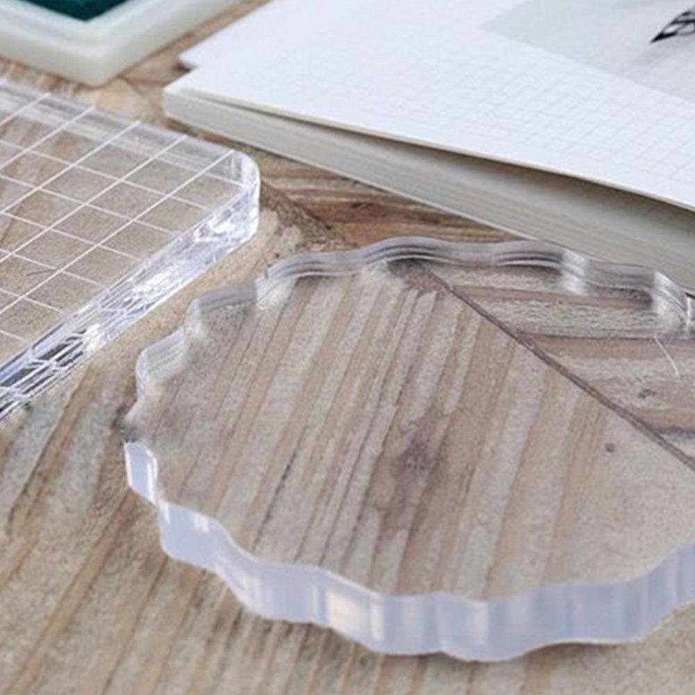 NEW Transparency Acrylic Block For DIY Transparent Scrapbooking For DIY Seal Photo Block Album Clear Decorative Stamp U4F1