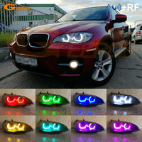 Excellent DTM M4 Style RF remote Bluetooth App Multi Color RGB LED Angel Eyes kit For BMW X6 E71 E72 X6M 2008 2014