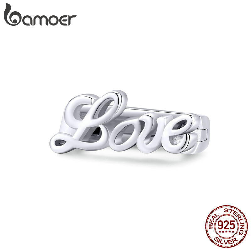 Bamoer Authentic 925 Sterling Silver Bead Charm Clips Fit Original Reflexions Bracelets Women DIY Fashion Jewelry 2020 SCX112