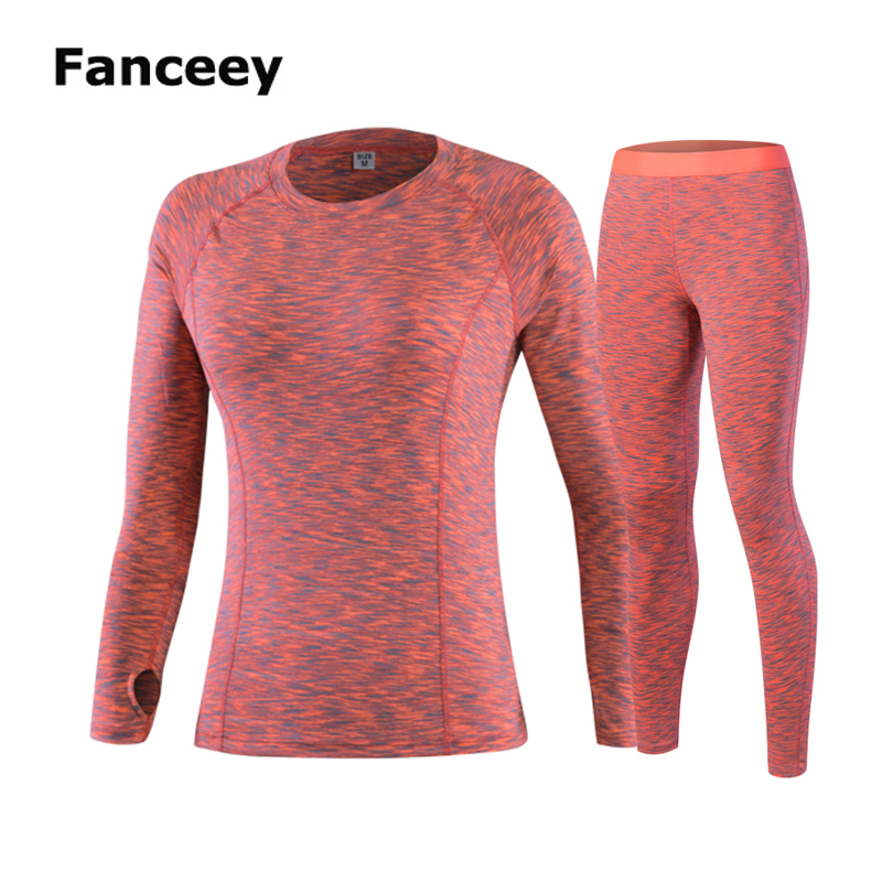 Fanceey New Women Thermal Underwear Long Johns For Women Thermal Clothing Second Skin Winter Female Two Piece Thermal Suit