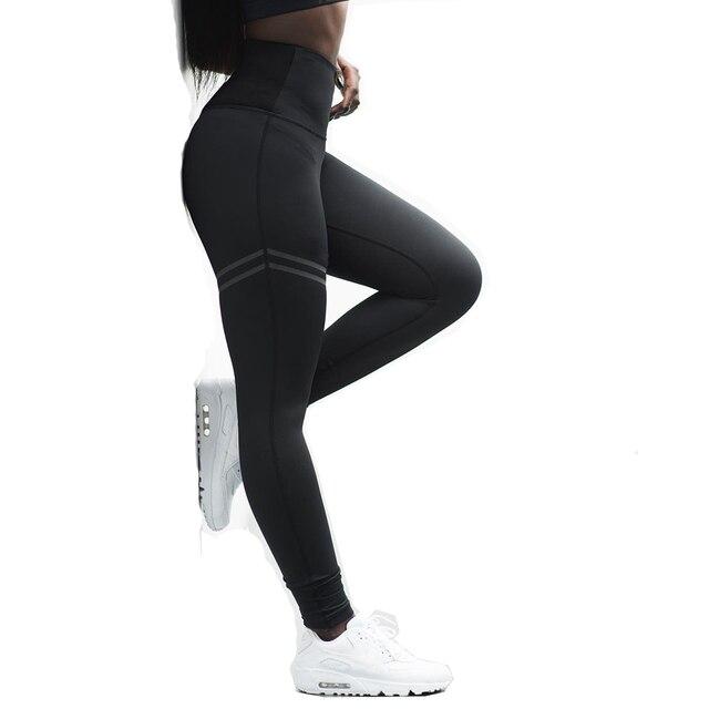 Di modo Casual Sport A Vita Alta Ghette di Alta Qualità Offset Stampa Leggings Slim Elasticità Fitness Leggins Ghette Delle Donne