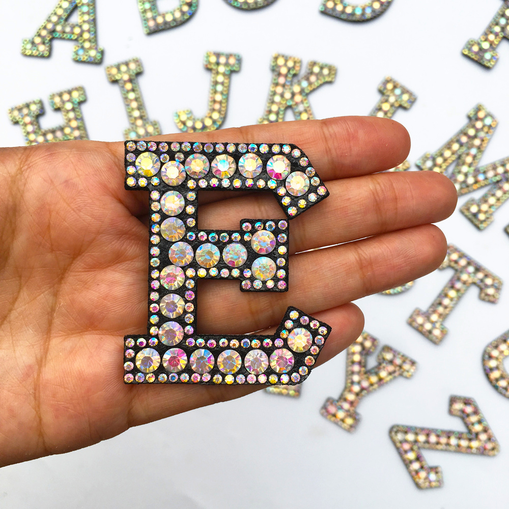 Hfda4b7153b3449409466adb0e9bd9081a A-Z 1pcs Rhinestone English Alphabet Letter Applique 3D Iron On letters Patch For Clothing Badge Paste For Clothes Bag Shoes