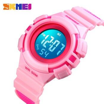 SKMEI LED Display Children Digital Watch 5Bar Waterproof Kids Electronic Wristwatches Stopwatch Boys Girls Sports Watches 1485