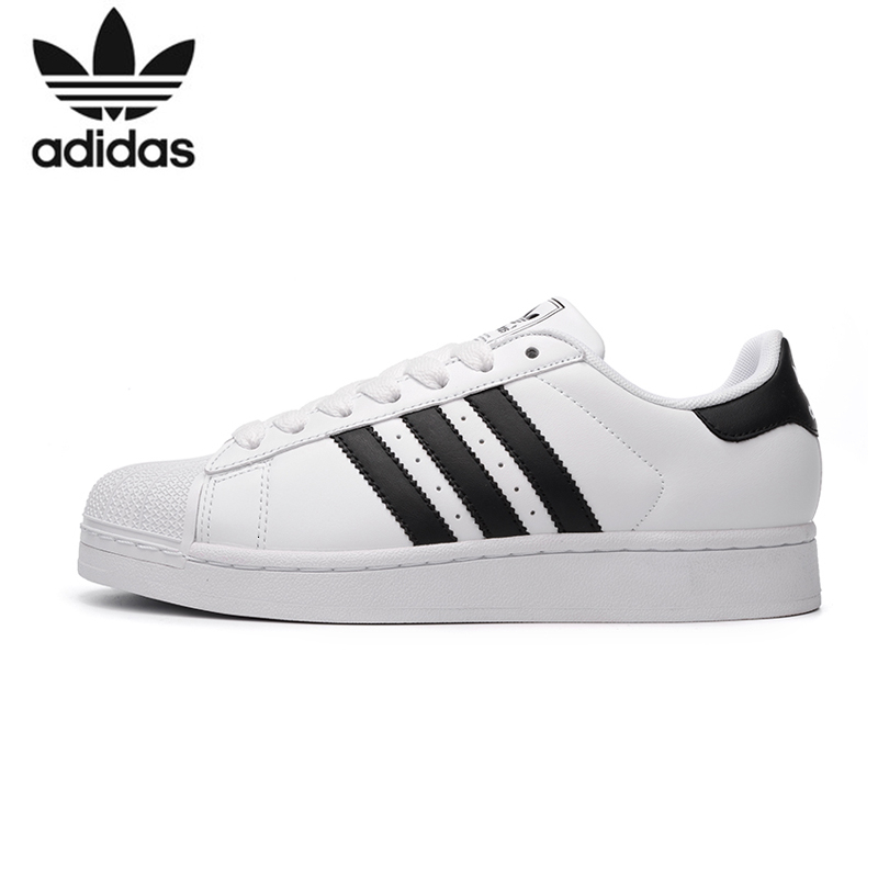 <font><b>Adidas</b></font> <font><b>SUPERSTAR</b></font> Clover Men And Women Skateboarding Shoes Anti-Slippery Outdoor Sport Sneakers #C77124 image