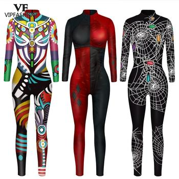 VIP FASHION 3D print Superhero Cosplay Bodysuit Suit Carnival Costume Zentai Jumpsuits Halloween For Women