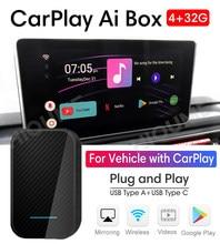 For Apple CarPlay Android AI Box 4+32G Wireless MirrorLink for VW Volkswagen Golf Polo Tiguan Touareg Passat B8 CC SEAT Skoda