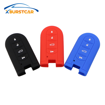 For Perodua Kelisa Kancil Kenari Alza Viva Myvi Daihatsu Mira 4 Button Key Cases Silicone Car Key Holder Cover Car Key Case image