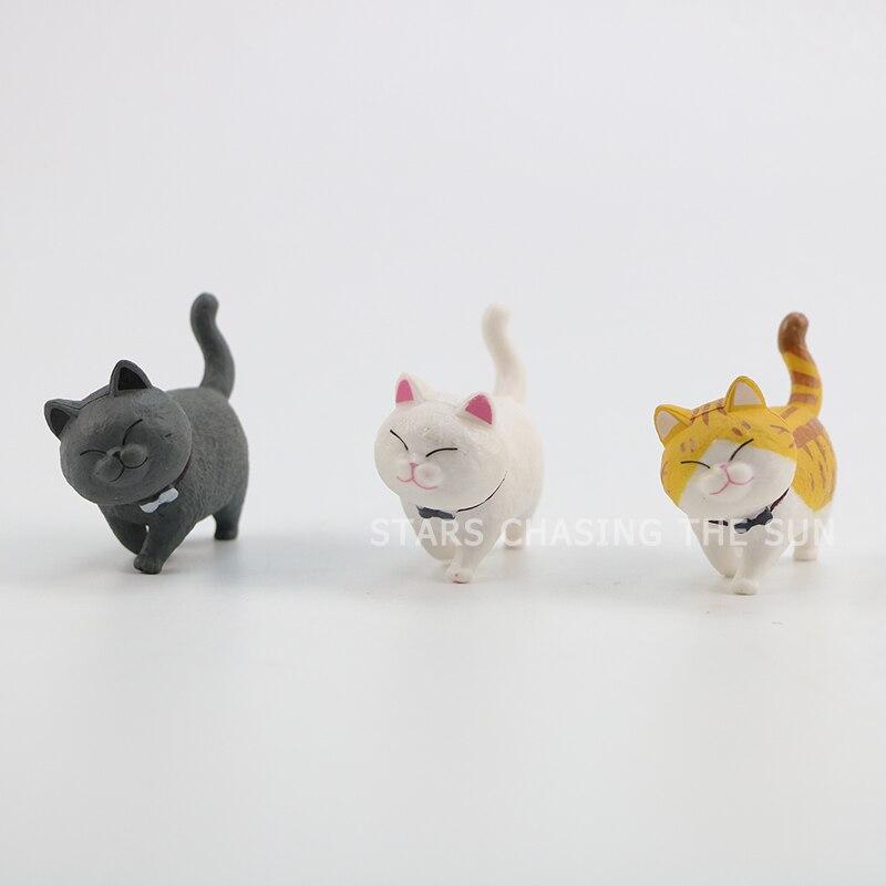 Anime model hand-made super cute cat bell 9 cat doll ornaments 3-4cm