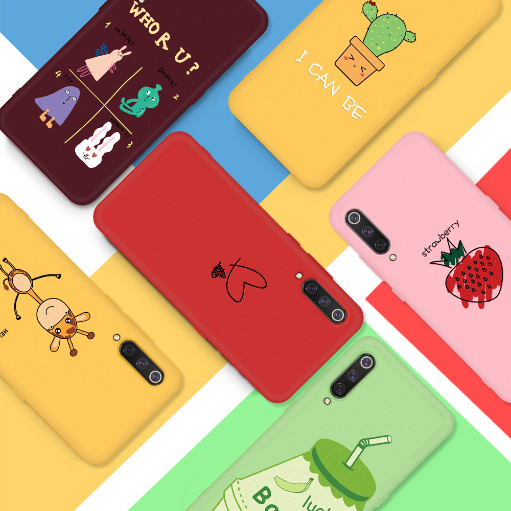 New Patterned phone case For <font><b>Xiaomi</b></font> <font><b>Mi</b></font> CC9 CC9E <font><b>Mi</b></font> <font><b>A3</b></font> Lite <font><b>A3</b></font> Colorful Cute cases Cartoon Animal Love heart back <font><b>cover</b></font> Bumper image
