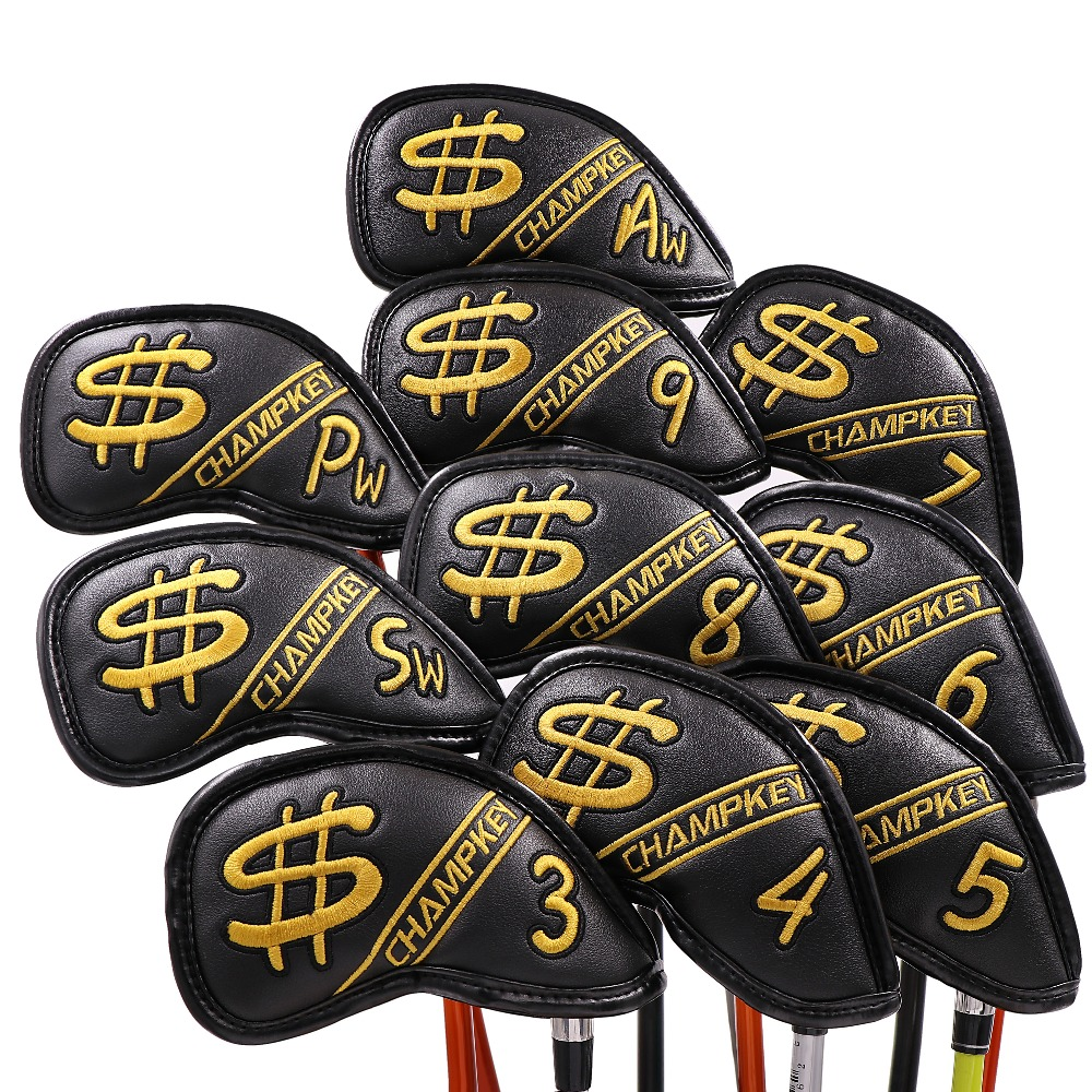 Golf Iron Cover Headcover Golf Iron Head Covers Skull Golf Club Iron Covers Wedges 3 , 4 , 5 , 6 , 7 , 8 , 9 , Aw Free Ship