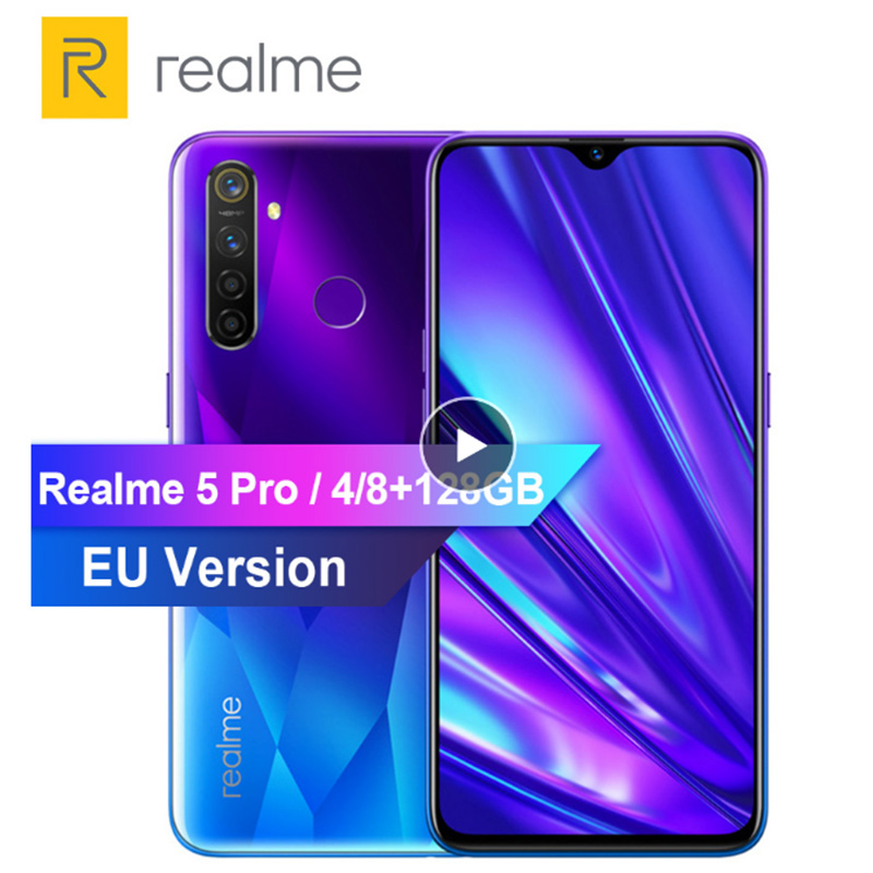 REALME 5 Pro 6.3'' Smartphone Android P Octa-core 4035mAh 48+16MP Dual Camera VOOC Fast Charge 3.0 Mobile Phone