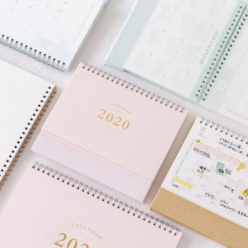 2020 NEW Kawaii Cute 2 Size Solid Color Calendar Coil Schedule Creative Desk Table Dates Reminder Timetable Planner sl2136 1