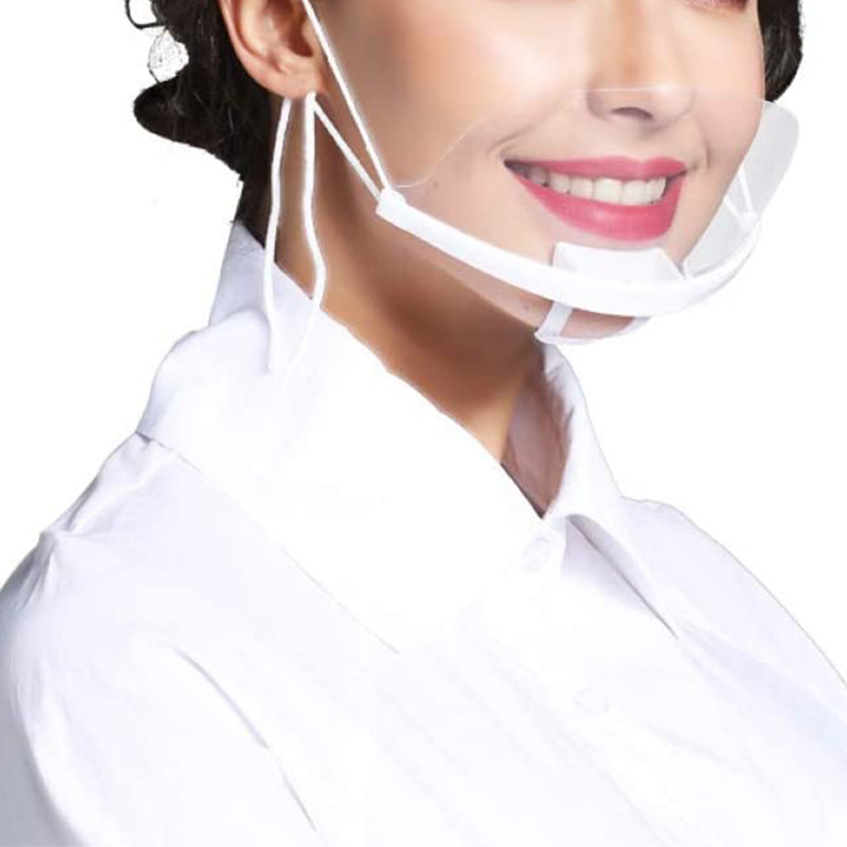 1 PCS Hygienic Protection Mouth And Nose Protection Room Spray Protection Transparent Cover Food Cover