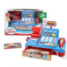 1Set Electric Cash Register Kids Toy Simulated Play Money Vending Machine House Pretend Toys Chrismas Gifts-Random Color