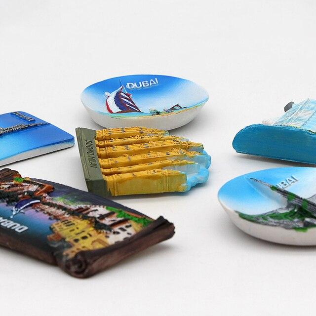 Dubai sailing Hotel souvenir 3D fridge magnets magnetic refrigerator paste home decoration Dubai architecture Collection Gifts 2