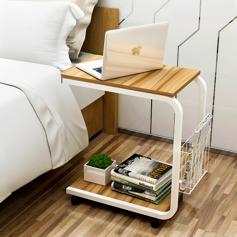 Modern Minimalist Corner Bedroom Table Small Coffee Table Moving Bedside Table Living Room Mini Sofa Cabinet Side Cabinet