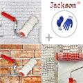 Neue Muster Farbroller Polyurethan Werkzeug Umweltschutz Stempel Roller Dekorative Zylinder Imitieren Stein für Wand-in Handwerkzeug-Sets aus Werkzeug bei