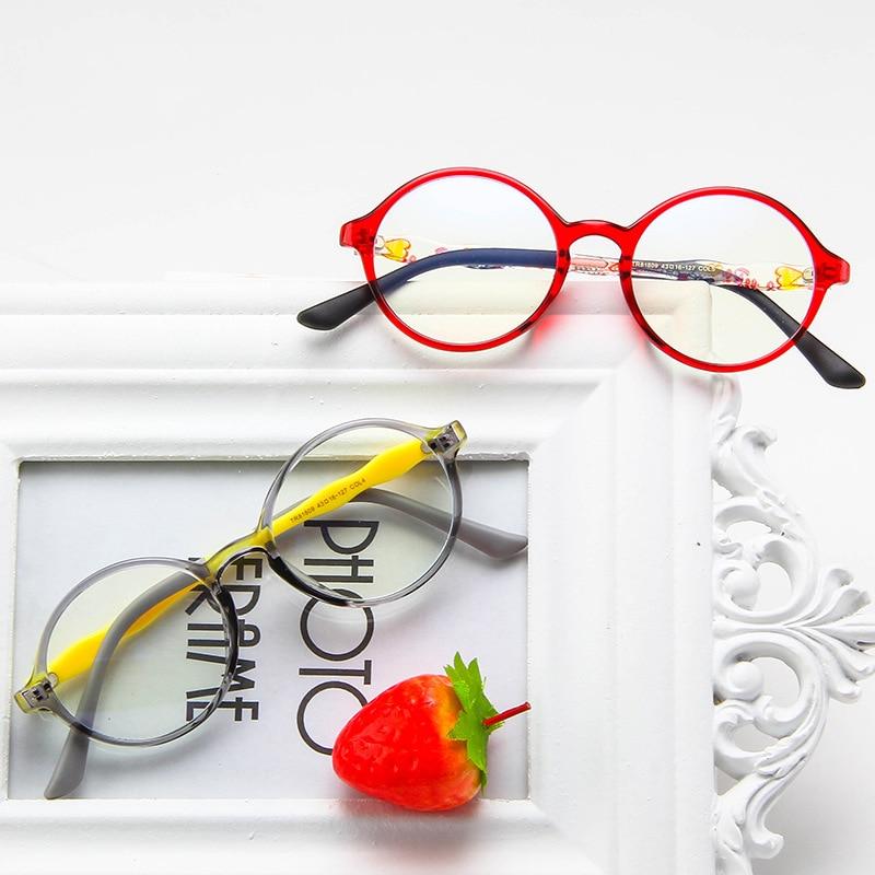 TR90 Anti-Blu-ray Children's Glasses Retro Round Glasses Frame Flat Mirror Kids Eyeglasse Outdoor Protection UV Eye Glasses Girl