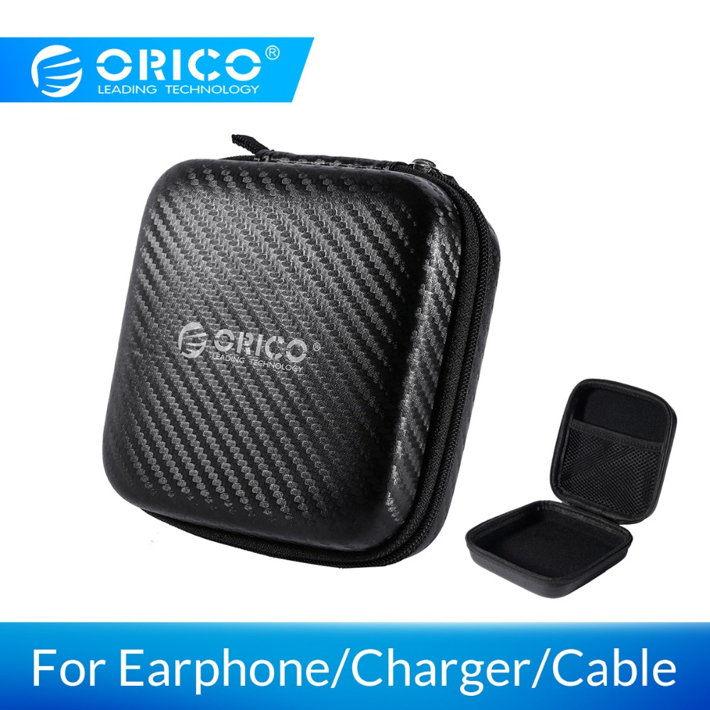ORICO Earphone Case Headphone Bag For USB Cable Charger Earphone Accessorries Storage