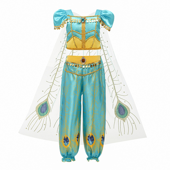 4-10T Fancy Princess Dress Baby Girl Clothes Kids Halloween Party Cosplay Costume Children Elsa Anna Dress vestidos infantil 1