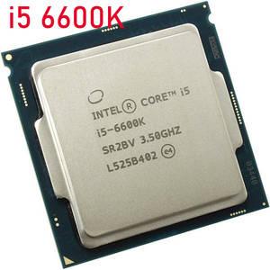 Intel CPU I5 Processor LGA1151 Core I5-6600k 6MB Used 14nm 91W