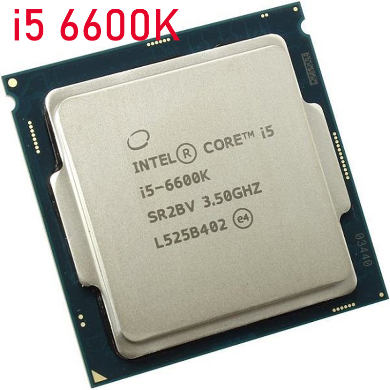 Intel® Core™ i5-6600K Processor Intel Core i5-6600K Quad-Core CPU i5 6600k 3.5GHz 6MB LGA1151 91W 14nm Processor LGA 1151 Used image