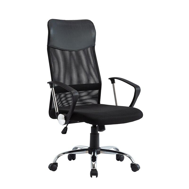 Poltrona ajustável da altura da cadeira traseira alta da malha da cadeira do escritório com apoio do giro e lombar ergonômico