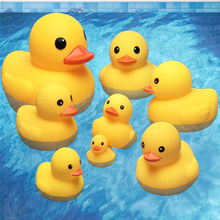Small Animal Baby Bath Toy Water Squeeze Sounding Dabbling Soft Rubber Duck Kids Duckling Toys for Toddler 3 Years Shower Games
