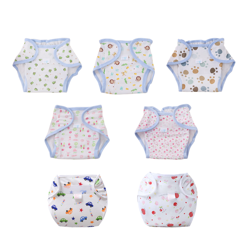Baby Infant Toddler Waterproof Training Pants Cotton Changing Nappy Cloth Diaper Panties Reusable Washable