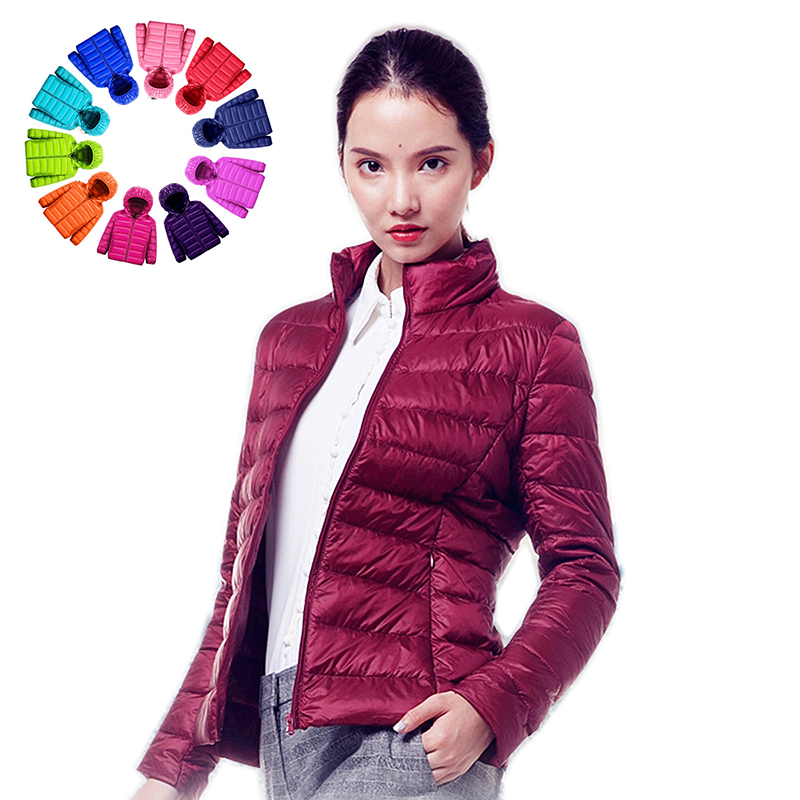 Queen Goddess Women Down Jacket Hooded 90% Duck Warm Overcoat Solid Portable Outerwear Large Size Ultra Light Down Coat Winter