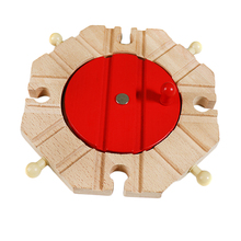 Rail Turntable | Wooden Train Track Accessory | Bridge Railway Building | for Kids Toddlers Educational Toy