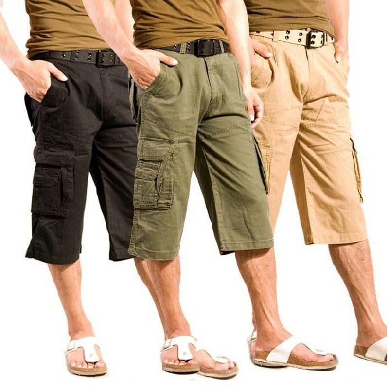 Short In Size Pure Cotton Straight-Cut Bib Overall Capri Pants Men Capris MEN'S Pants Summer Pants