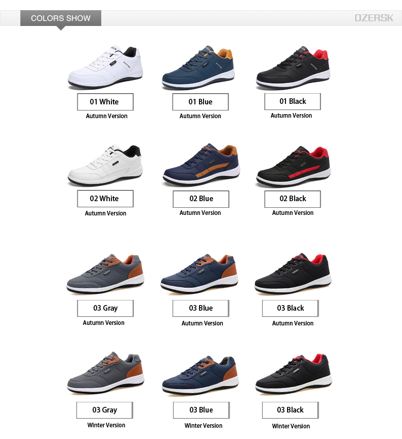 Hfda66f76b0f549829e35443191a5f9e63 OZERSK Men Sneakers Fashion Men Casual Shoes Leather Breathable Man Shoes Lightweight Male Shoes Adult Tenis Zapatos Krasovki