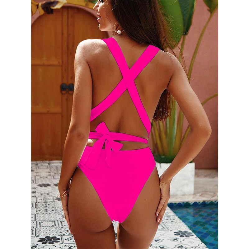 Новинка 2019, сексуальный цельный купальник, женский купальник, пуш-ап, монокини, бандаж, боди, женская пляжная одежда, летние купальники