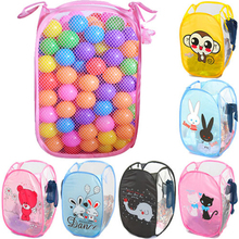 Cartoon Dirty Laundry Basket Foldable Clothes Storage Baskets Mesh Washing Clothing Toys Storage Home Laundry Organizer