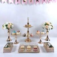 Présentoir de gâteaux en carton mariage, or 3-9 pièces