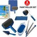 8 teil/satz Multifunktionale Wand Dekorative Farbe Roller Ecke Pinsel Griff Werkzeug DIY Haushalt Einfach zu Bedienen Malerei Pinsel Kit