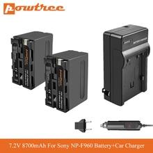 4pcs 7 2v 7200mah np f960 f970 power display battery 1 ultra fast 3x faster dual charger for sony f930 f950 f770 f570 ccd rv100 NP F960 NP F970 NP-F960 NP-F970 F950 Battery+Car Charger For Sony MVC-FD91 MC1500C L10 TR555 VX2200E D77 PLM-100 CCD-TRV35 L70