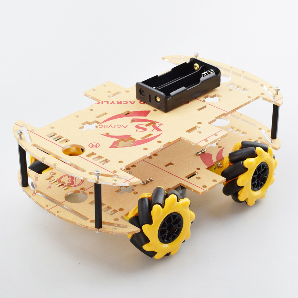 Cheapest 4WD Mecanum Wheel Omni-directional Robot Car Chassis Kit With 4pcs TT Motor For Arduino Raspberry Pi DIY Toy Parts