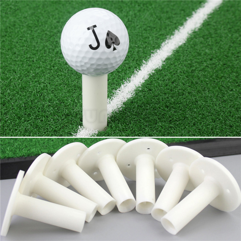 5Pcs Tees Rubber Golf Driving Range Mat Tees Holders Practice Training Divot Tool White Golf Rubber Tee Holder 57mm