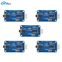 цена на 5pcs YX5300 MP3 Music Player Module UART TTL Serial Control Support MP3 / WAV Micro SD /SDHC Card For Arduino/AVR/ARM/PIC