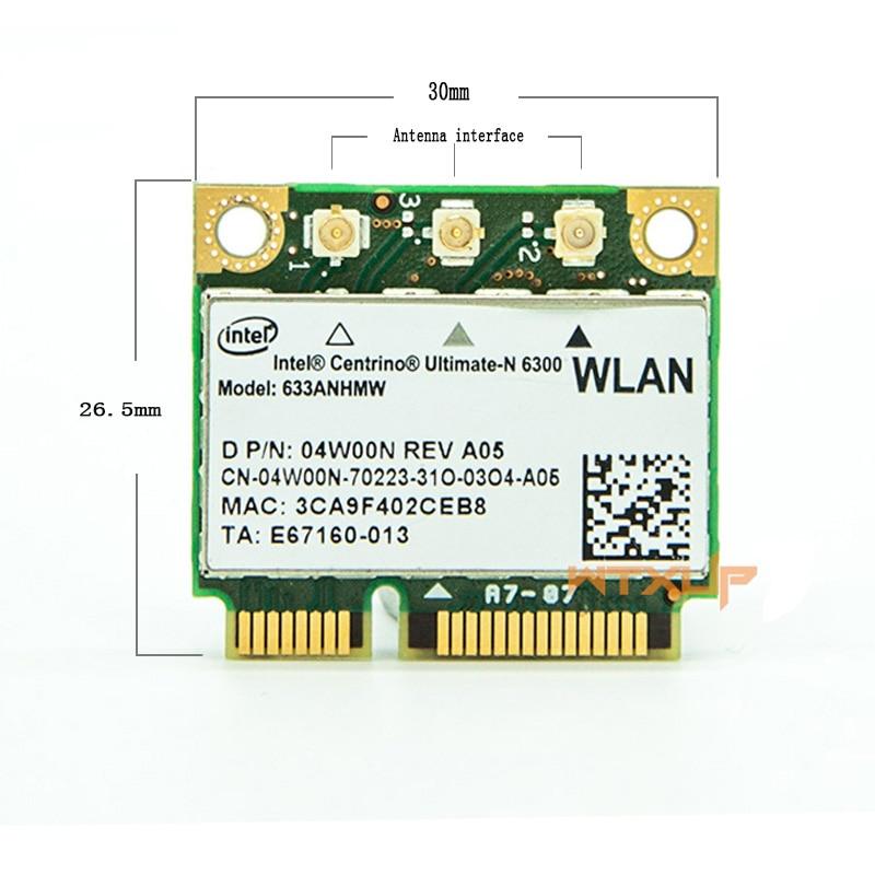 Intel Advanced-N 6200 Half Mini Pcie Wireless Card f/ür Lenovo ThinkPad HP Laptop